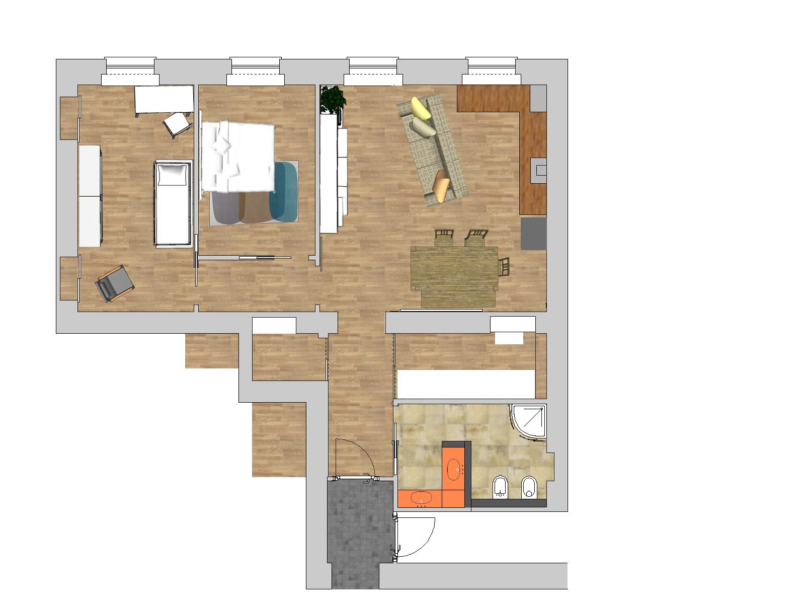 Planimetria divani la scelta giusta variata sul design for Planimetrie della casa senza garage